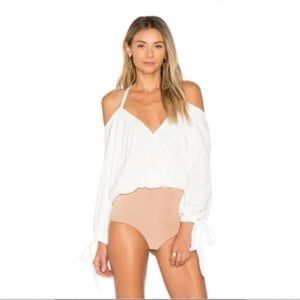 For Love & Lemons Buenos Noches bodysuit White XS